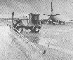 Spraying at Leeds Bradford Airport